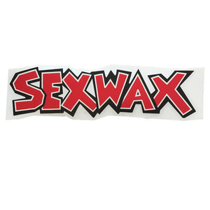 -Stickers-Sex Wax Horizontal Stickers - Black/Red-Zogs Sex Wax-Seaside Surf Shop