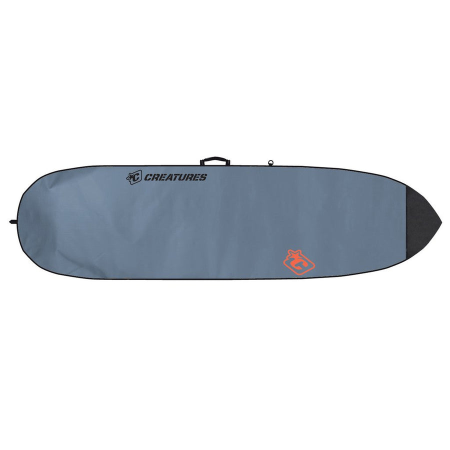 '-Surf Accessories-Creatures Shortboard Lite Board Bag - Charcoal/Orange-Creatures of Leisure-Seaside Surf Shop