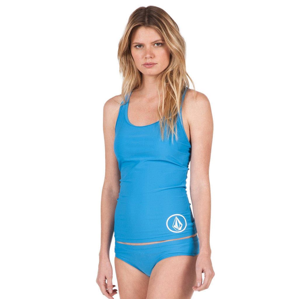 Volcom Womens Simiply Solid Bright Tankini - Bright Blue