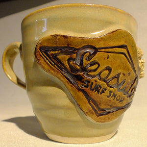 Seaside Surf Shop Handcrafted Coffee Cups - Sand