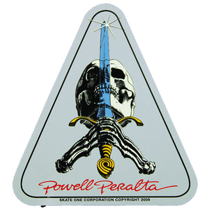 "Powell Peralta Skull & Sword 4x3"" Sticker"