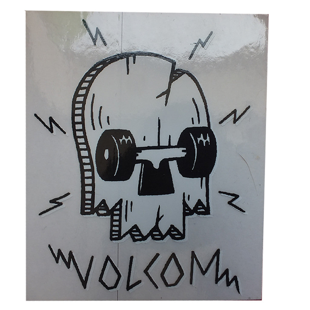 "-Misc. Stuff-Volcom -Skate Broken Deck Skull Sticker - 3x3.25""-Volcom-Seaside Surf Shop"