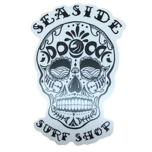 Seaside Surf Shop - Sugar Skull Sticker - 2x3""