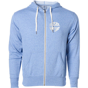 Seaside Surf Shop Unisex Gumball Zipped Hoody -  Sky Heather