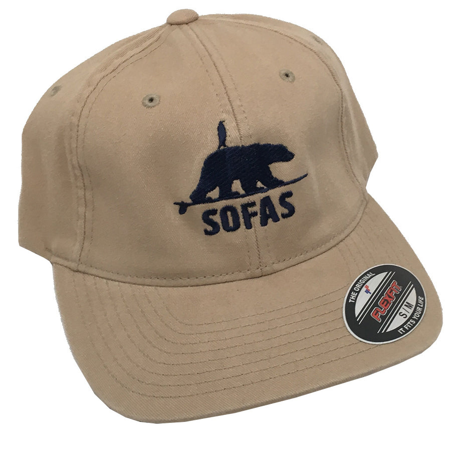 SOFAS Foundation Polar Bear and Penguin Twill Dad Hat - Khaki-SOFA-Seaside Surf Shop