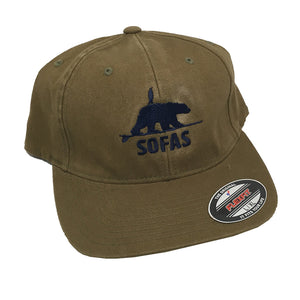 -Apparel-SOFAS Foundation Polar Bear and Penguin Twill Dad Hat - Spruce-SOFA's-Seaside Surf Shop