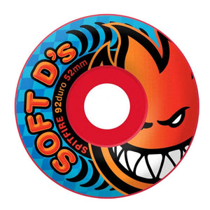 -Skate-Spitfire 56mm Soft D's Wheels - White-Spitfire-Seaside Surf Shop