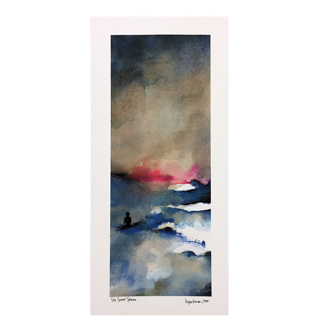 -Artwork-Kara Sparkman Watercolors - Solo Sunset-Kara Sparkman-Seaside Surf Shop