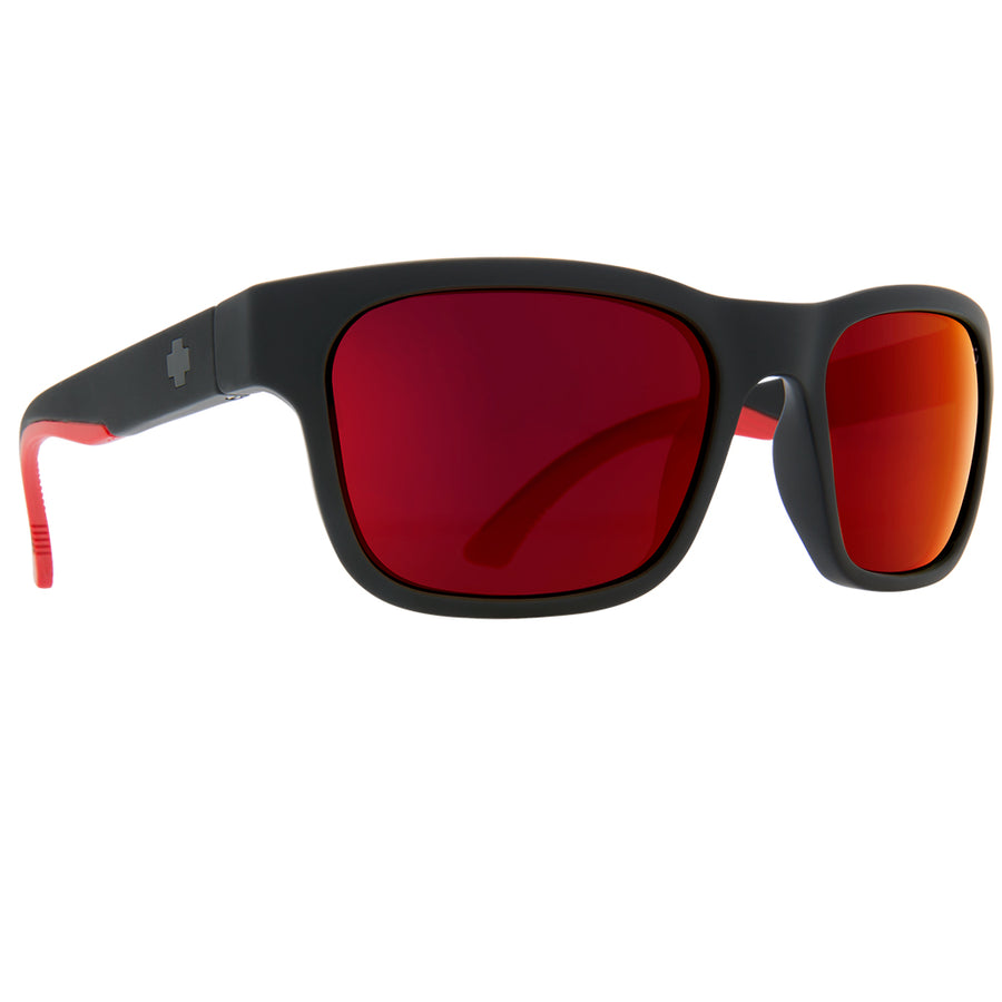 Spy Optics Hunt - Matte Black/Happy Gray Green w/Red Flash