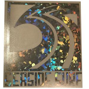 "Seaside Surf Shop - Sqwave Die Cut - 4x3.5"" - Glitter"