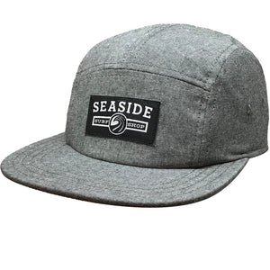 Seaside Surf Shop Longshoreman Campers Cap - Black Oxford-Seaside Surf Shop-Seaside Surf Shop
