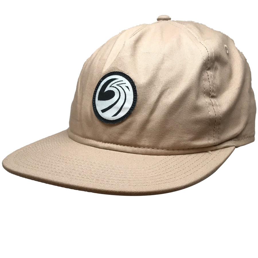 Seaside Surf Shop New Wave Logo Badge Cap - Khaki-Seaside Surf Shop-Seaside Surf Shop