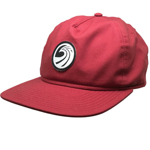 Seaside Surf Shop New Wave Logo Badge Cap - Crimson