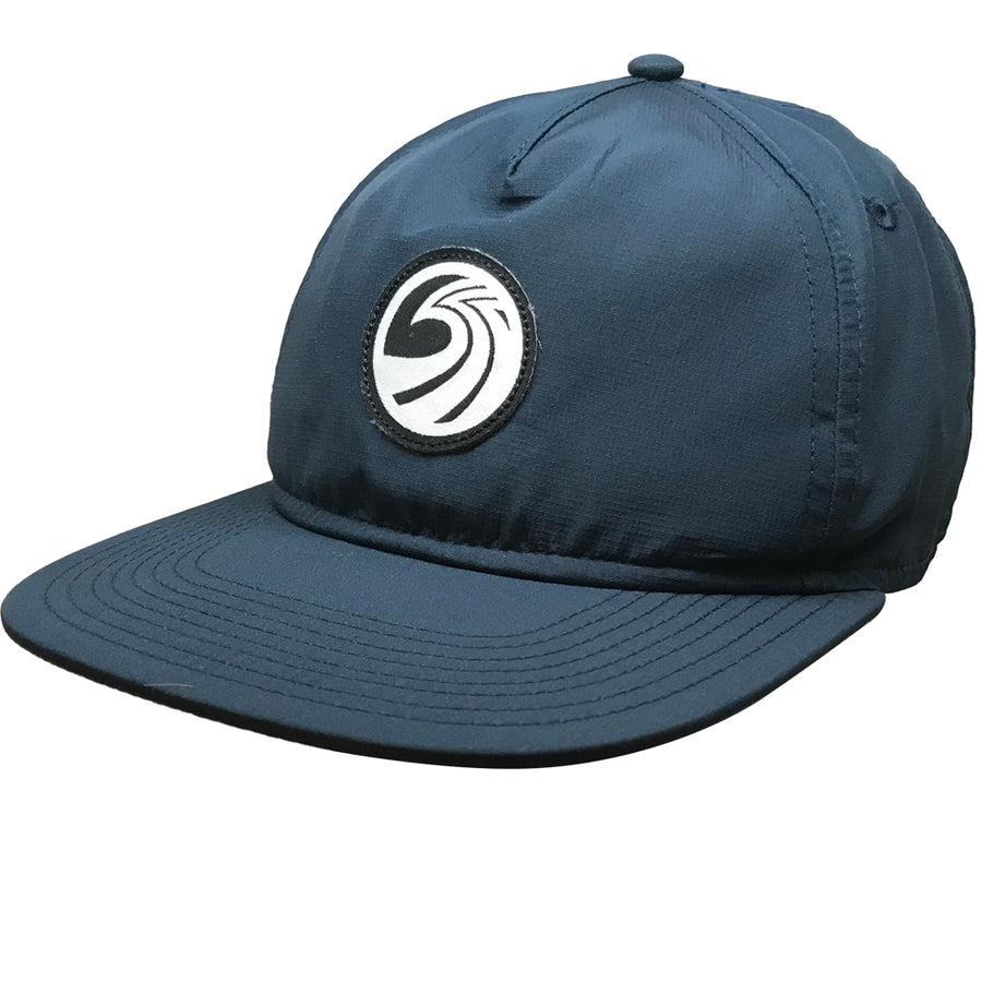 Seaside Surf Shop New Wave Logo Badge Cap - Navy-Seaside Surf Shop-Seaside Surf Shop