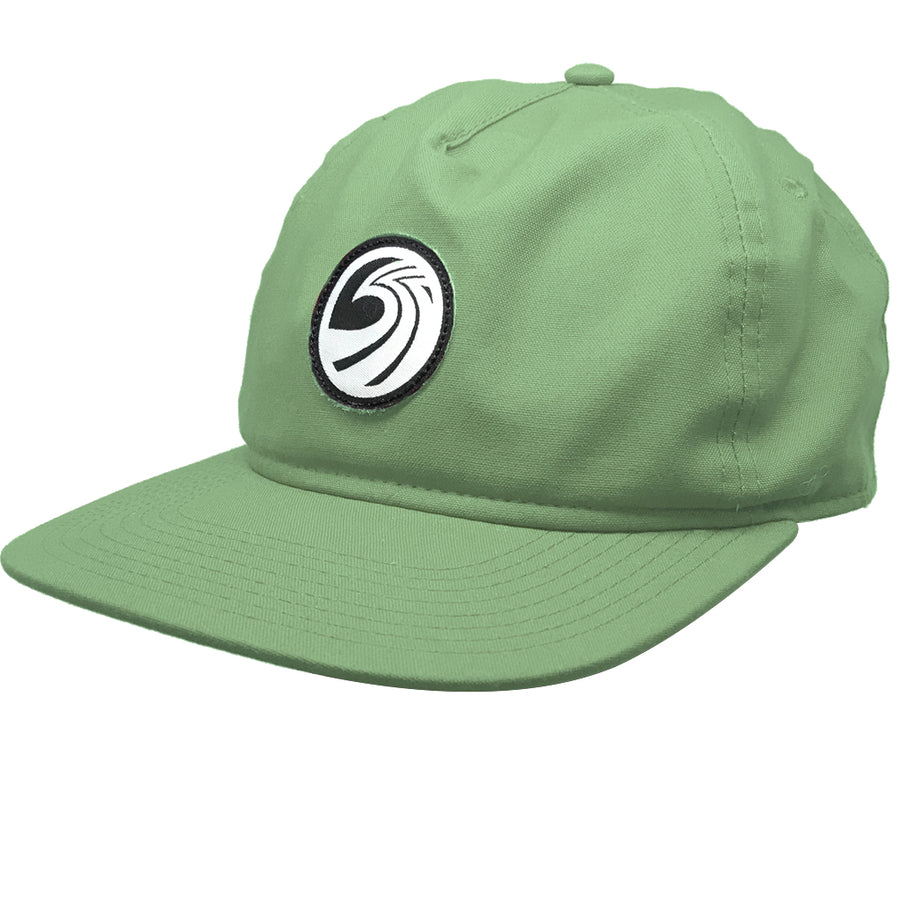Seaside Surf Shop New Wave Logo Badge Cap - Avocado-Seaside Surf Shop-Seaside Surf Shop
