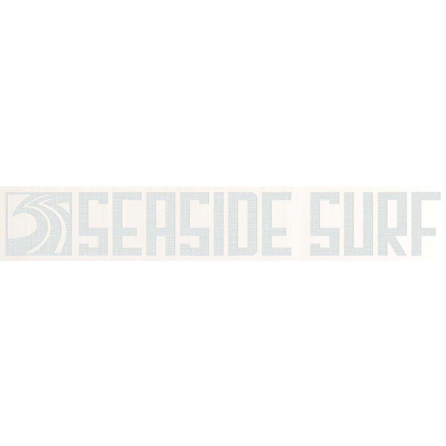 "Seaside Surf Shop - Long Sqwave Die Cut - 8x1.25"" White, Seaside Surf Accessories, Seaside Surf Shop, Seaside Surf Shop, New white colored sticker squared out even longer for your pleasure-meet the Seaside Surf Shop Sqwave Logo. Measures Approximately 4""x3.5"""