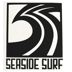 "Seaside Surf Shop - Sqwave Die Cut - 4.5x5"" Black-Seaside Surf Shop-Seaside Surf Shop"