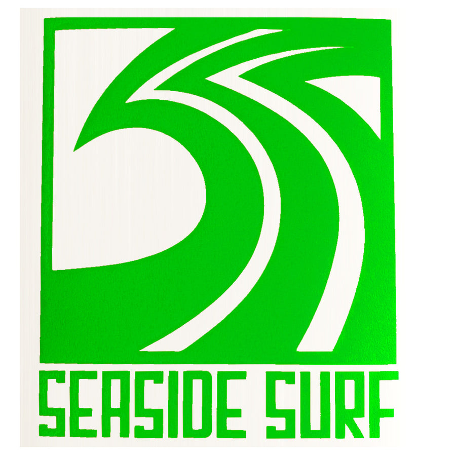 "Seaside Surf Shop - Sqwave Die Cut - 4.5x5"" Green-Seaside Surf Shop-Seaside Surf Shop"