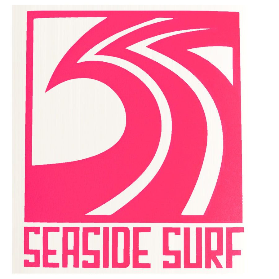 "Seaside Surf Shop - Sqwave Die Cut - 4.5x5"" Hot PInk-Seaside Surf Shop-Seaside Surf Shop"