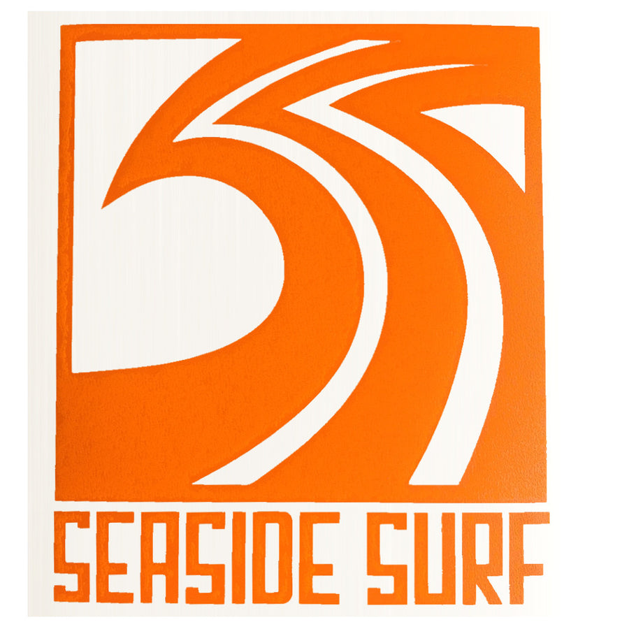 "Seaside Surf Shop - Sqwave Die Cut - 4.5x5"" Orange-Seaside Surf Shop-Seaside Surf Shop"