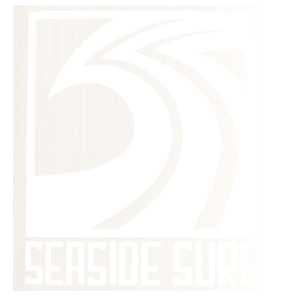 "Seaside Surf Shop - Sqwave Die Cut - 4.5x5"" White - Seaside Surf Shop"