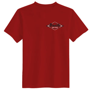 Seaside Surf Shop Mens Vintage Logo Tee - Red, Apparel, Seaside Surf Shop, Mens Tees, All new Shark Chum color - Blood RED! Cool enough to chill with the old school, fresh enough to represent Seaside Surf Shop even at a hipster party. The only T-shirt you need.