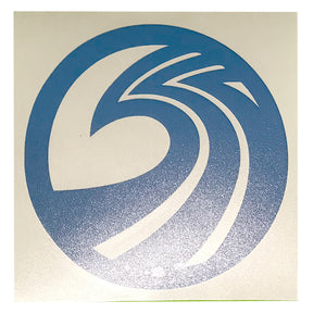 "Seaside Surf Shop - New Wave Logo Die Cut - 3"" Sky Blue"