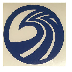 "Seaside Surf Shop - New Wave Logo Die Cut- 4.25"" Navy"
