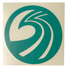 "Seaside Surf Shop - New Wave Logo Die Cut- 4.25"" Teal"