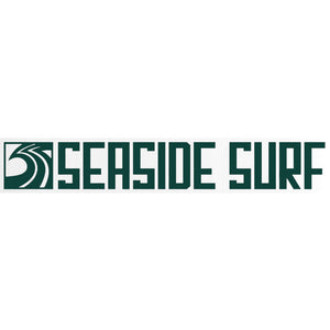 "Seaside Surf Shop - Long Sqwave Die Cut - 8x1.25"" - Forest Green"
