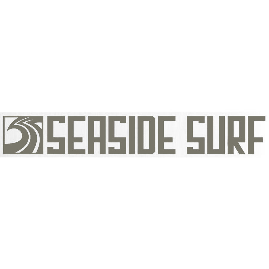 "Seaside Surf Shop - Long Sqwave Die Cut - 8x1.25"" - Grey, Seaside Surf Accessories, Seaside Surf Shop, Seaside Surf Shop, New Grey colored sticker squared out even longer for your pleasure-meet the Seaside Surf Shop Sqwave Logo. Measures Approximately 8x1.25"""