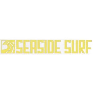 "Seaside Surf Shop - Long Sqwave Die Cut - 8x1.25"" - Yellow, Seaside Surf Accessories, Seaside Surf Shop, Seaside Surf Shop, New Yellow colored sticker squared out even longer for your pleasure-meet the Seaside Surf Shop Sqwave Logo. Measures Approximately 8x1.25"""