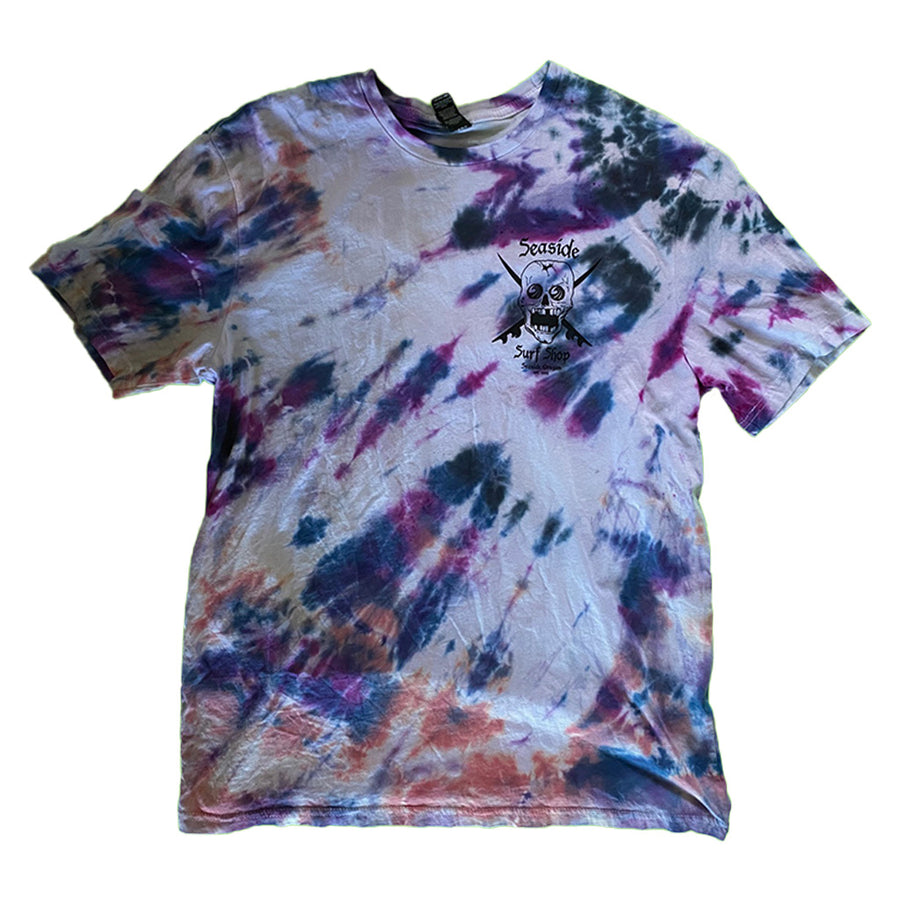 Seaside Surf Shop Mens Skull Tee - Tie Dye