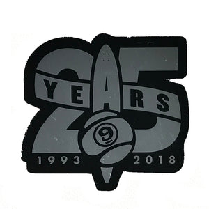 "Sector 9 Twenty Five Years 3"" - Black/Silver Metallic"