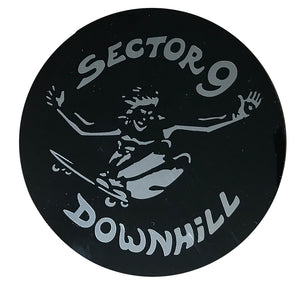 "Sector 9  Downhill 4"" - Black/Silver Metal"
