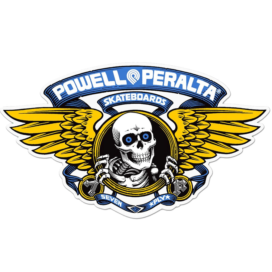 "Powell Peralta Winged Ripper 5"" Sticker - Blue-Powell Peralta-Seaside Surf Shop"