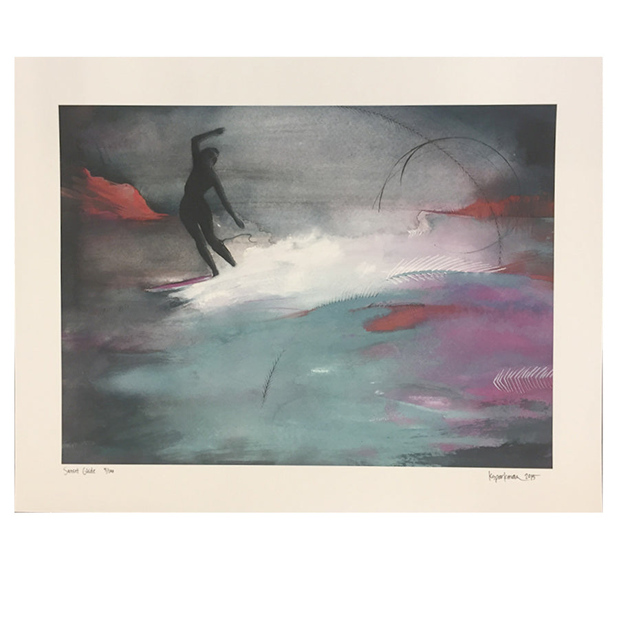 Kara Sparkman Watercolors - Sunset Glide-Kara Sparkman-Seaside Surf Shop