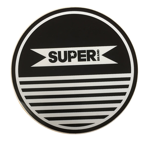 "-Misc. Stuff-Superbrand Circle Logo - 5"" - Black-Superbrand Surfboards-Seaside Surf Shop"