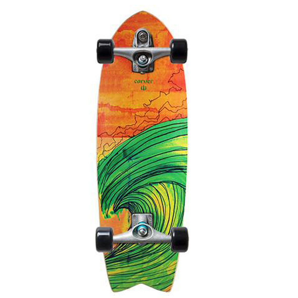 Carver Skateboards Swallow Red/Green C7 Complete - 29""