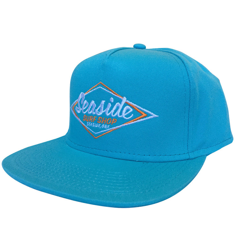 -Apparel Accessories-Seaside Surf Shop Vintage Logo Cap - Teal-Seaside Surf Shop-Seaside Surf Shop