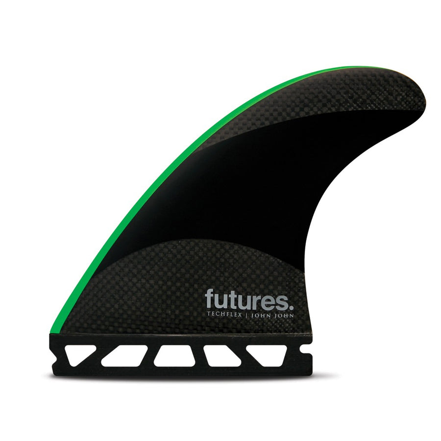 Futures Fins - John John Techflex (M) - Black/Neon Green