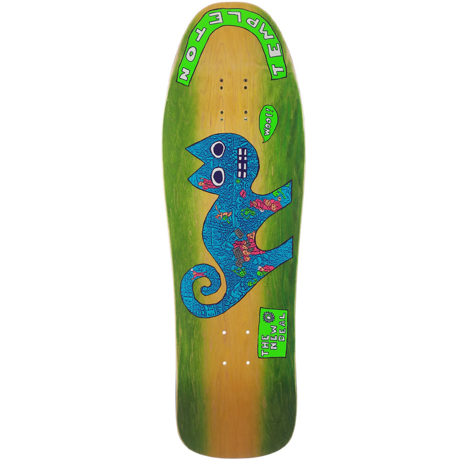 "New Deal  Templeton Cat 9.75"" Deck - Neon"