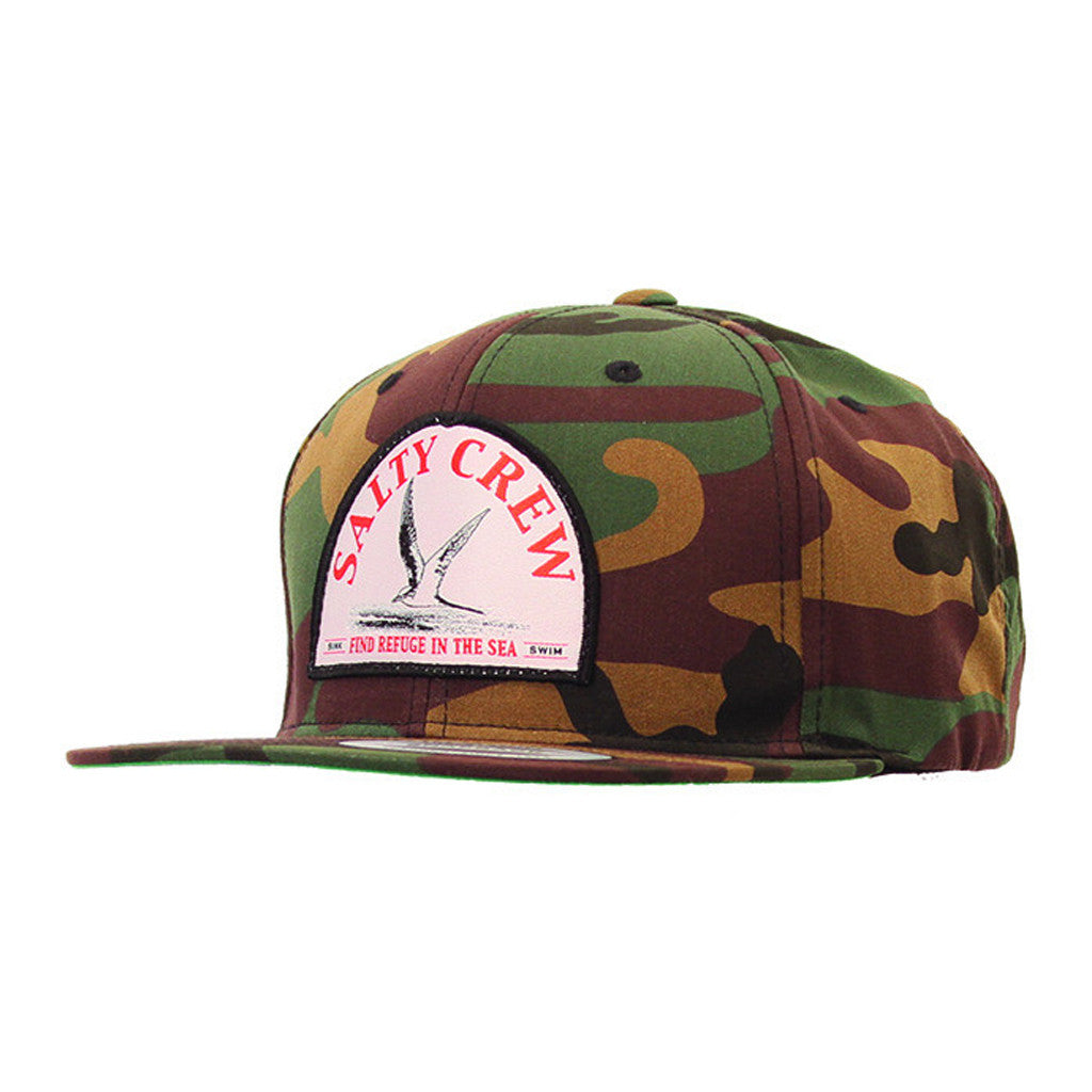 Salty Crew Mens Tern Bird Patched Hat - Camo