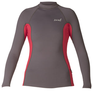 Xcel Womens Anna Premium 6oz L/S - Deep Grey/Goji Berry