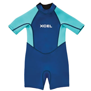 Xcel Toddler 1mmSpringsuit Wetsuit - Faint Blue Pistachio-Xcel Wetsuits-Seaside Surf Shop