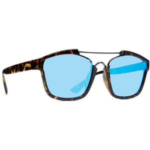 Dot Dash Confuego Sunglasses - Tort Gloss/Blue Chrome