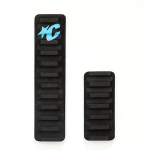 Creatures Skim Arch 2 Piece Traction Pad - Black/Cyan