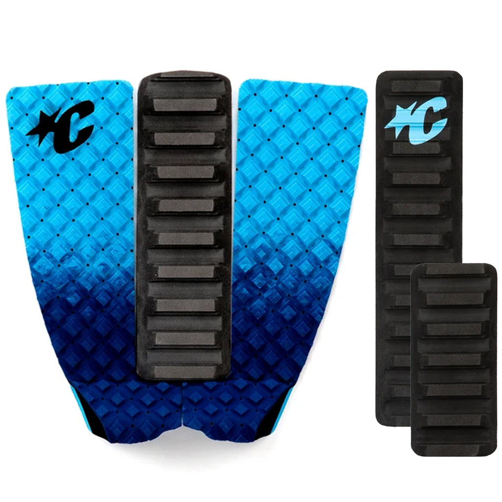 Creatures Skim Arch 2 Piece Traction Pad - Black/Cyan - Seaside Surf Shop