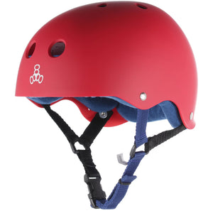 Triple 8 Classic Sweatsaver Skateboard Helmet - Red/Blue, Skate, Triple 8, Safety Gear, Skateboard Helmets, Triple 8, The Triple Eight classic helmet, protecting skaters for 18 years and counting. With its timeless design, killer color range and our unique rubber finish, the Sweatsaver Helmet is a staple of our helmet collection. And with our stink-free, moisture-wicking Sweatsaver™ Liner inside, it's a helmet you'll use for years to come.