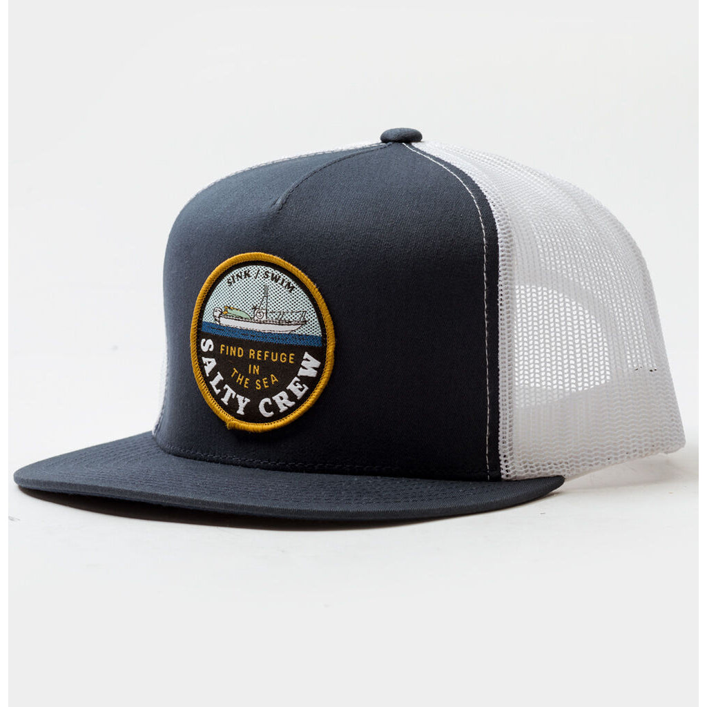 Salty Crew Dawn Patrol Trucker Cap - Navy/White - Seaside Surf Shop